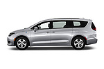 Car driver side profile view of a 2018 Chrysler Pacifica Hybrid Limited 5 Door Mini Van