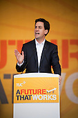David Miliband. A Future that Works: TUC march and rally against austerity, London.
