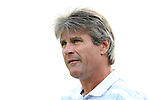 09 September 2014: Duke head coach John Kerr. The Duke University Blue Devils hosted the Temple University Owls at Koskinen Stadium in Durham, North Carolina in a 2014 NCAA Division I Men's Soccer match. Duke won the game 3-1.