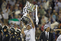 Real Madrid's Pepe celebrates the victory in the spanish KIng's Cup Final match.April 16,2014. (ALTERPHOTOS/Acero) <br /> Finale Coppa del Re<br /> Real Madrid Barcellona <br /> Foto Insidefoto