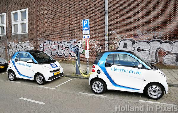 Nederland Amsterdam 2015 07 31. Oplaadpunt voor elektrische auto's bij de NDSM Werf