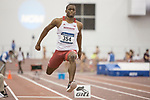 COLLEGE STATION, TX - MARCH 11: Kaiwan Culmer of Nebraska competes in the triple jump during the Division I Men's and Women's Indoor Track & Field Championship held at the Gilliam Indoor Track Stadium on the Texas A&M University campus on March 11, 2017 in College Station, Texas. (Photo by Michael Starghill/NCAA Photos/NCAA Photos via Getty Images)