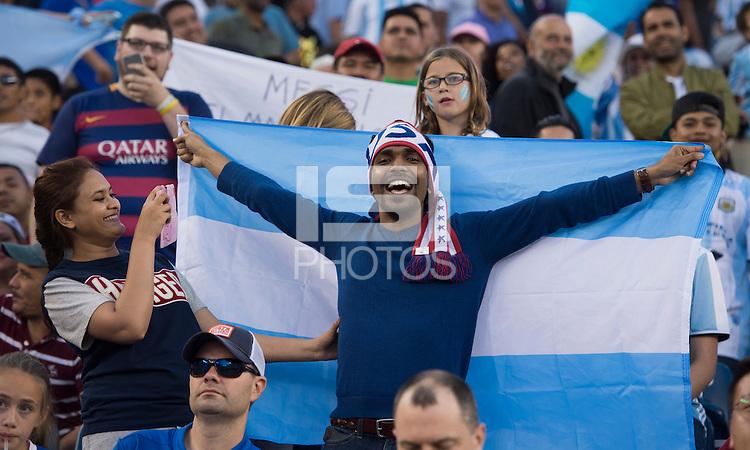 Foxborough, MA - Saturday June 18, 2016: Fans during a Copa America Centenario quarterfinal match between Argentina (ARG) and Venezuela (VEN)  at Gillette Stadium.