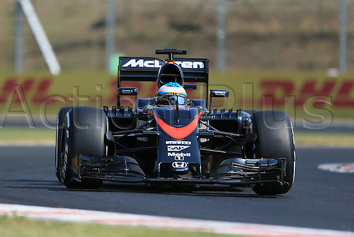 24.07.2015. Hungaroring, Budapest, Hungary. FIA Formula 1 Grand Prix of Hungary. Practise day.  McLaren Honda MP4/30 driver Fernando Alonso