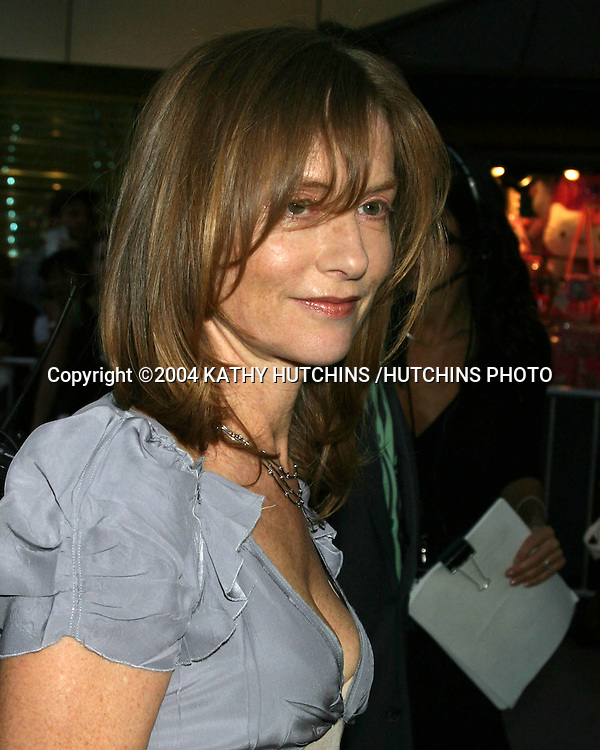 """©2004 KATHY HUTCHINS /HUTCHINS PHOTO.PREMIERE OF """"I LOVE HUCKABEES"""".LOS ANGELES, CA.SEPTEMBER 22, 2004..ISABELLE HUPPERT"""