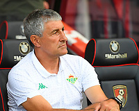 Real Betis Manager Quique Setien during AFC Bournemouth vs Real Betis, Friendly Match Football at the Vitality Stadium on 3rd August 2018