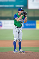 Lexington Legends starting pitcher Niklas Stephenson (26) looks to his catcher for the sign against the Kannapolis Intimidators at CMC-Northeast Stadium on May 26, 2015 in Kannapolis, North Carolina.  The Intimidators defeated the Legends 4-1.  (Brian Westerholt/Four Seam Images)