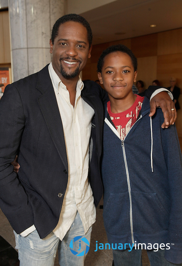 """BEVERLY HILLS, CA - JUNE 06:  Blair Underwood and son Paris Underwood attend a Fox Searchlight screening Of """"The Art Of Getting By"""" at Clarity Theater on June 6, 2011 in Beverly Hills, California.  (Photo by Todd Williamson/WireImage)"""