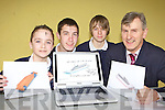 Pobalscoil Inbhear Sce?ine Kenmare students who have designed a F1 car for the Formula 1 in schools engineering project l-r: Cain Long, Colm O'Sullivan, Chris Buckley and David O'Dwyer Metalwork teacher