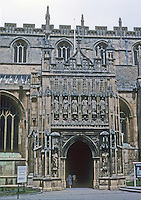 Gloucester: Gloucester Cathedral--South Porch. Photo '90.