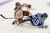 Haley Skarupa (BC - 22), Eve Boissonneault (Maine - 19) - The Boston College Eagles defeated the visiting University of Maine Black Bears 5 to 1 on Sunday, October 6, 2013, in their Hockey East season opener at Kelley Rink in Conte Forum in Chestnut Hill, Massachusetts.