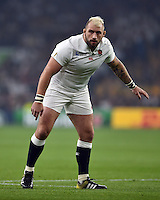 Joe Marler of England looks on. Rugby World Cup Pool A match between England and Australia on October 3, 2015 at Twickenham Stadium in London, England. Photo by: Patrick Khachfe / Onside Images