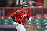 Erie SeaWolves Chad Sedio (27) during an Eastern League game against the Akron RubberDucks on June 2, 2019 at UPMC Park in Erie, Pennsylvania.  Akron defeated Erie 7-2 in the first game of a doubleheader.  (Mike Janes/Four Seam Images)
