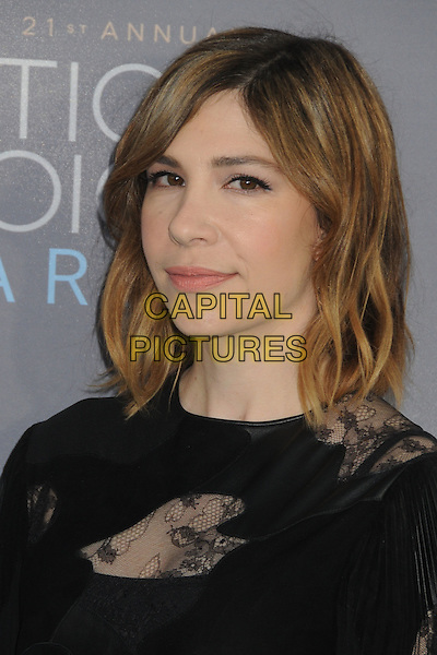 17 January 2016 - Santa Monica, California - Carrie Brownstein. 21st Annual Critics' Choice Awards - Arrivals held at Barker Hangar. <br /> CAP/ADM/BP<br /> &copy;BP/ADM/Capital Pictures