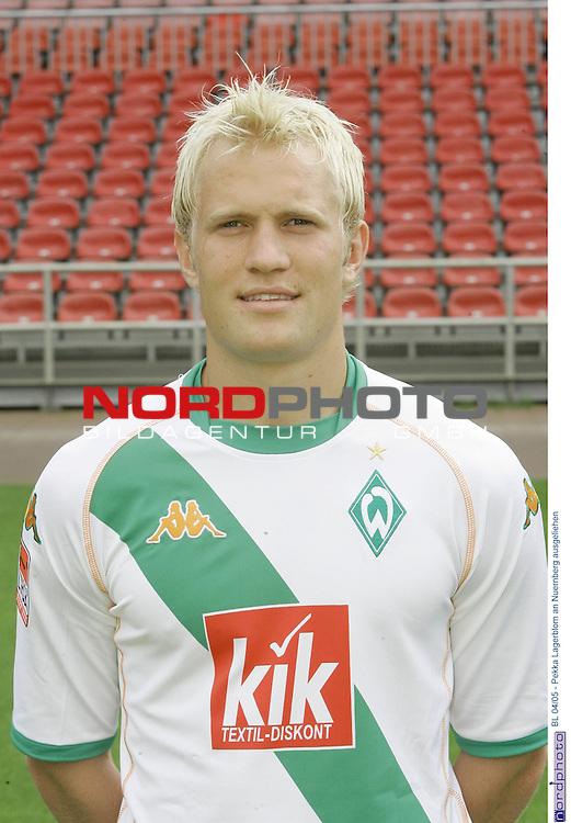 BL 2004/2005 - <br /> <br /> Wie Sportdirektor Klaus Allofs im Trainingslager von Werder Bremen bekannt gab, wird der finnische Nationalspieler Pekka Lagerblom an den 1. FC Nuernberg bis zum Saisonende ausgliehen. <br /> Lagerblom: Es ist gut fuer mich, dass ich jetzt eine bessere Chance zu spielen habe. Die mŲchte ich nutzen, weil ich mich so wieder fuer Werder empfehlen kann.<br /> <br /> <br /> Foto: &copy; nordphoto <br /> <br />  *** Local Caption *** Foto ist honorarpflichtig! zzgl. gesetzl. MwSt.<br />  Belegexemplar erforderlich<br /> Adresse: nordphoto<br /> Georg-Reinke-Strasse 1<br /> 49377 Vechta