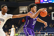Washington, DC - December 22, 2018: High Point Panthers forward Jordan Whitehead (34) grabs a rebound during the DC Hoops Fest between High Point and Richmond at  Entertainment and Sports Arena in Washington, DC.   (Photo by Elliott Brown/Media Images International)