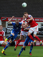 Fleetwood Town's Cian Bolger attacking the ball <br /> <br /> Photographer Andrew Kearns/CameraSport<br /> <br /> The Carabao Cup First Round - Fleetwood Town v Carlisle United Kingdom - Tuesday 8th August 2017 - Highbury Stadium - Fleetwood<br />  <br /> World Copyright &copy; 2017 CameraSport. All rights reserved. 43 Linden Ave. Countesthorpe. Leicester. England. LE8 5PG - Tel: +44 (0) 116 277 4147 - admin@camerasport.com - www.camerasport.com