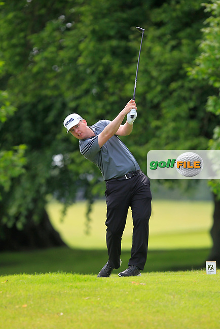 Michael McDermott (Grange GC) on the 2nd tee during Round 2 of the Titleist &amp; Footjoy PGA Professional Championship at Luttrellstown Castle Golf &amp; Country Club on Wednesday 14th June 2017.<br /> Photo: Golffile / Thos Caffrey.<br /> <br /> All photo usage must carry mandatory copyright credit     (&copy; Golffile | Thos Caffrey)