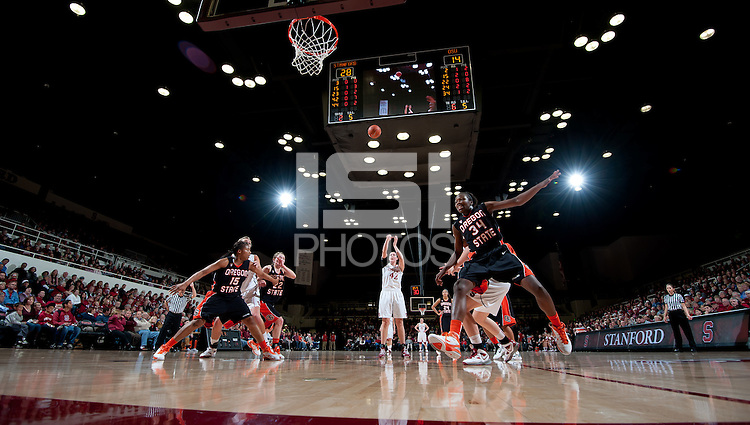 STANFORD, CA - February 24, 2011: Sarah Boothe of the Stanford Cardinal women's basketball team during the Stanford 73-37 win over Oregon State at Maples Pavilion.