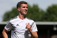 Chris Mepham of Brentford and Wales runs across the pitch pre-match during Brentford vs Rotherham United, Sky Bet EFL Championship Football at Griffin Park on 4th August 2018