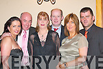 Carmel King, James Archdeacon, Audrey Harty, Dan Harty, Maura Jones and Derry Jones Killarney  at the New Years Eve ball in the Killarney Heights Hotel .