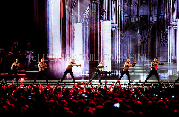 Concert of the American singer-songwriter Madonna in Brussels during the MDNA Tour (Belgium, 12/07/2012)