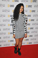 LONDON, ENGLAND - NOVEMBER 28: Vick Hope at the Comedy Central's FriendsFestive exhibition VIP launch, Old Truman Brewery, Hanbury Street on Thursday 28 November 2019 in London, England, UK. <br /> CAP/CAN<br /> ©CAN/Capital Pictures