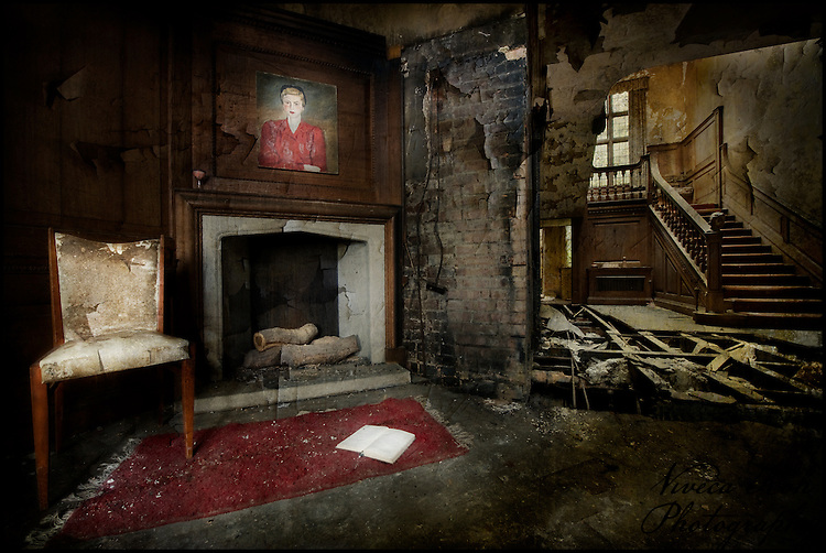 Lobby at the abandoned Potters Manor. http://www.vivecakohphotography.co.uk/2011/12/05/royal-photographic-society-digital-imaging-group-projected-image-exhibition-2011/