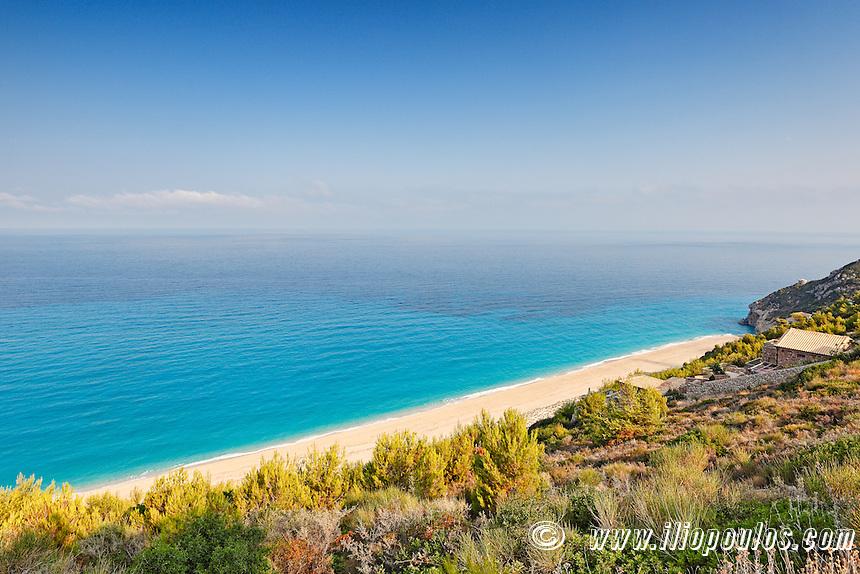 The beach Mylos in Lefkada, Greece