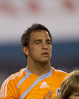 Houston Dynamo midfielder Danny Cruz (5). The New England Revolution defeated Houston Dynamo, 1-0, at Gillette Stadium on August 14, 2010.