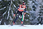 Federico Pellegrino competes during the FIS Ski World Cup 1.3 Km Sprint Free Qualification, on February 2, 2014 in Dobbiaco, Toblach. <br />