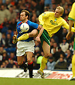 21/2/04          Copyright Pic : James Stewart.File Name : jspa10_gers_v_hibs.HENNING BERG AND JARKO WISS CHALLENGE FOR THE BALL...James Stewart Photo Agency 19 Carronlea Drive, Falkirk. FK2 8DN      Vat Reg No. 607 6932 25.Office     : +44 (0)1324 570906     .Mobile  : +44 (0)7721 416997.Fax         :  +44 (0)1324 570906.E-mail  :  jim@jspa.co.uk.If you require further information then contact Jim Stewart on any of the numbers above.........