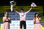 Tim Wellens (BEL) Lotto-Soudal retains the mountains Polka Dot Jersey at the end of Stage 8 of the 2019 Tour de France running 200km from Macon to Saint-Etienne, France. 13th July 2019.<br /> Picture: ASO/Alex Broadway | Cyclefile<br /> All photos usage must carry mandatory copyright credit (© Cyclefile | ASO/Alex Broadway)