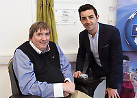 Former Kerry footballer and  Dancing with the Stars winner Aidan OÕMahony and IWA Service Coordinator Terry OÕBrien at the opening of the Irish Wheelchair Association new Community Centre at The Reeks Gateway, Killarney on Friday. Picture: macmonagle.com