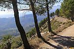 Mountain landscape from Coll de Rates, Tàrbena, Marina Alta, Alicante province, Spain looking west