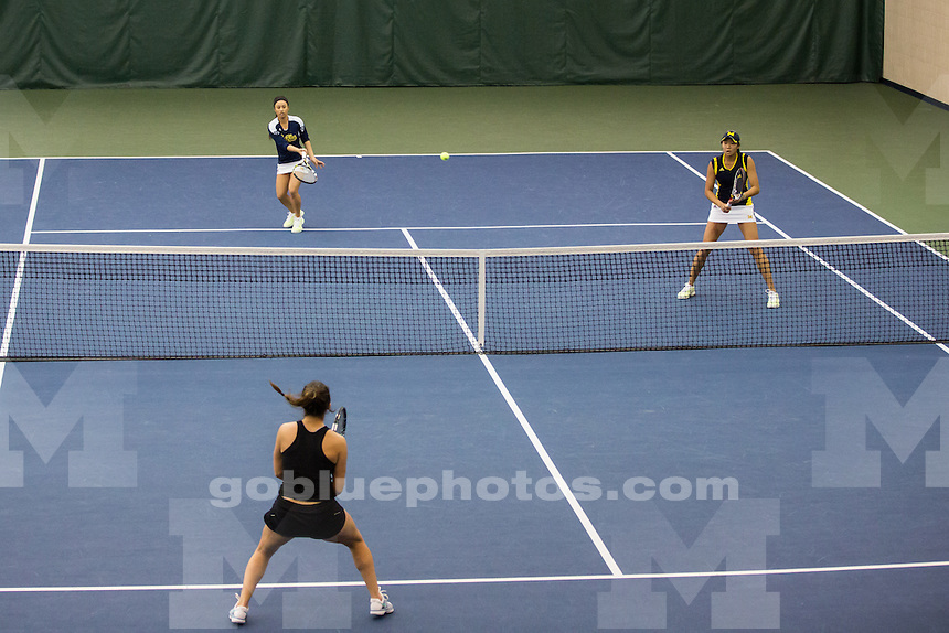 The University of Michigan women's tennis team hosts Northwestern at the Varsity Tennis Center in Ann Arbor, Mich., on April 5, 2014.