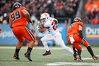 CORVALLIS, OR - SEPTEMBER 28: Dorian Maddox #28 of the Stanford Cardinal runs with the ball during a game between Oregon State University and Stanford Football at Reser Stadium on September 28, 2019 in Corvallis, Oregon.