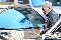 NEW YORK, NY, 02.03.2017 - PATRICK-STEWART - O ator britânico Patrick Stewart é visto chegando a um programa de televisão para divulgar o filme Logan na região da Times Square em Manhattan na cidade de New York nesta quinta-feira, 02. (Foto: William Volcov/Brazil Photo Press)