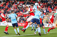 Fleetwood Town's Cian Bolger scores the opening goal <br /> <br /> Photographer Alex Dodd/CameraSport<br /> <br /> The EFL Sky Bet League One - Fleetwood Town v Accrington Stanley - Saturday 15th September 2018  - Highbury Stadium - Fleetwood<br /> <br /> World Copyright &copy; 2018 CameraSport. All rights reserved. 43 Linden Ave. Countesthorpe. Leicester. England. LE8 5PG - Tel: +44 (0) 116 277 4147 - admin@camerasport.com - www.camerasport.com
