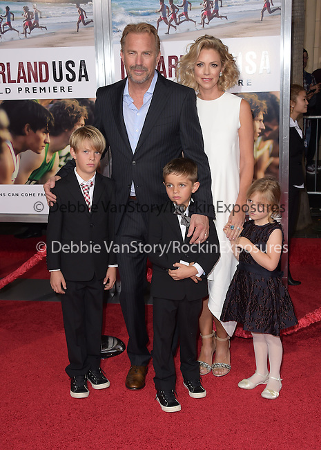 Kevin Costner and family attend The Disney Premiere of McFarland, USA held at The El Capitan Theater  in Hollywood, California on February 09,2015                                                                               © 2015 Hollywood Press Agency