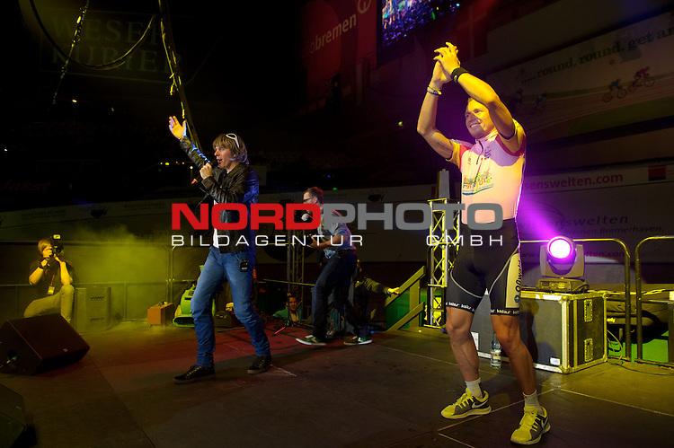 11.01.2014, &Ouml;VB Arena, Bremen, GER, Sixdays Bremen, im Bild Mickie Krause und Marcel Barth<br /> <br /> Foto &copy; nordphoto / Frisch