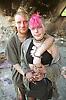 Portrait of young punk couple,