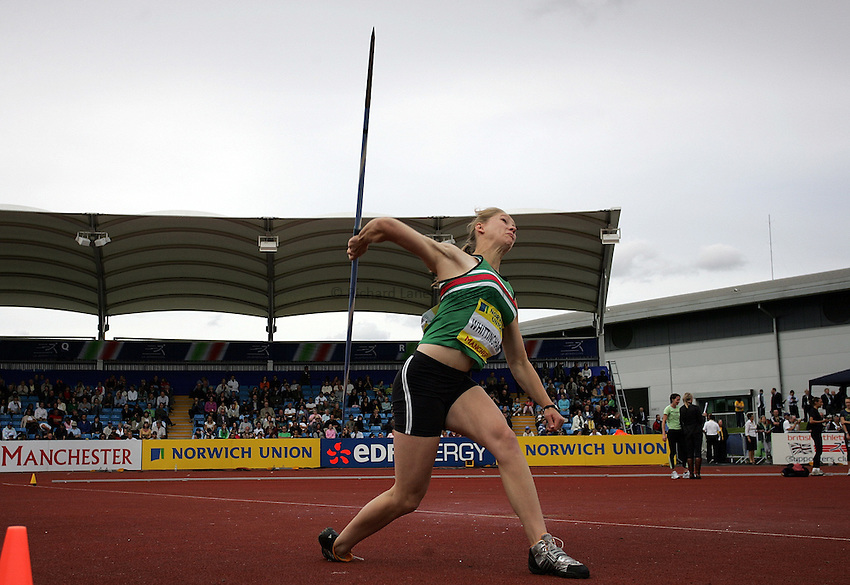 Photo: Paul Thomas/Richard Lane Photography..Norwich Union World Trials and AAA Championships. 28/07/2007...Laura Whittingham during the women's javelin.