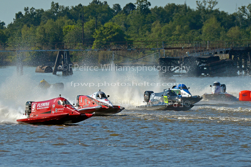 Johnny Fleming (#9), Wesley Cheatham (#4), Tammy Wolf (#88), Rueben Stafford (#5) and Chris Fairchild (#62)           (Formula 1/F1/Champ class)