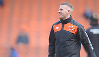 Blackpool Fitness Coach Adam Forrest during the pre-match warm-up <br /> <br /> Photographer Kevin Barnes/CameraSport<br /> <br /> The EFL Sky Bet League One - Blackpool v Peterborough United - Saturday 13th April 2019 - Bloomfield Road - Blackpool<br /> <br /> World Copyright &copy; 2019 CameraSport. All rights reserved. 43 Linden Ave. Countesthorpe. Leicester. England. LE8 5PG - Tel: +44 (0) 116 277 4147 - admin@camerasport.com - www.camerasport.com