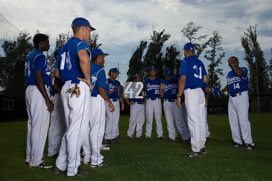 BASEBALL - EUROPEAN UNDER -21 CHAMPIONSHIP - PAMPELUNE (ESP) - 03 TO 07/09/2008 - PHOTO : CHRISTOPHE ELISE.TEAM FRANCE