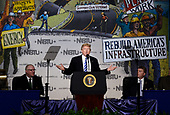 United States President Donald Trump makes remarks at the 2017 North America's Building Trades Unions National Legislative Conference at the Washington Hilton in Washington, DC, April 4, 2017.<br /> Credit: Olivier Douliery / Pool via CNP