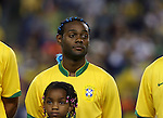 12 September 2007: Brazil's Vagner Love. The Brazil Men's National Team defeated the Mexico Men's National Team 3-1 at Gillette Stadium in Foxborough, Massachusetts in an international friendly.