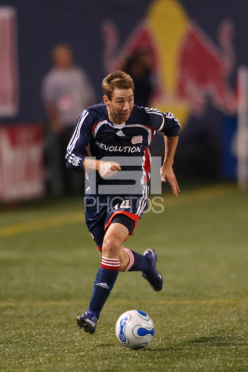 New England Revolution midfielder (14) Steve Ralston. The New York Red Bulls and the New England Revolution played to a 0-0 tie during first leg of the MLS Eastern Conference Semifinal Series at Giants Stadium in East Rutherford, NJ, on October 27, 2007.