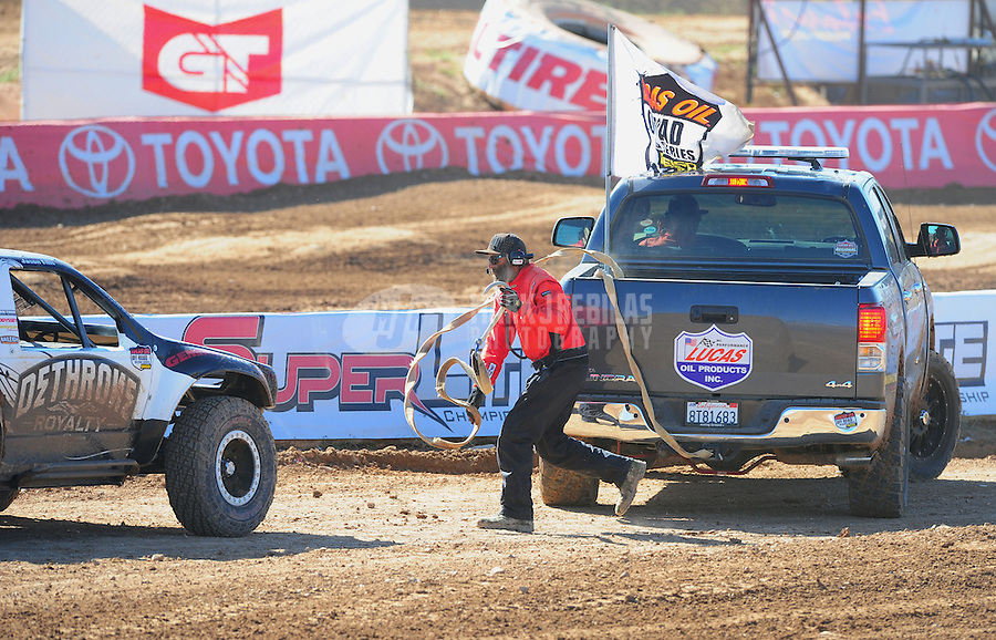 Apr 16, 2011; Surprise, AZ USA; LOORRS official toyota support vehicle pace truck during round 3 at Speedworld Off Road Park. Mandatory Credit: Mark J. Rebilas-